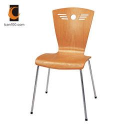 Résistance aux températures élevées Wood Design Café empilables de meubles de salle à manger moderne de contreplaqué tordues Président-06008 Chaises (RM)