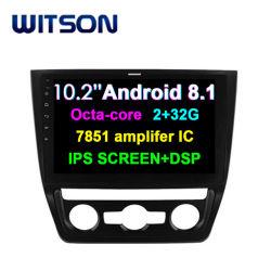 "Witson 10.2 ""フォルクスワーゲンの雪男2014-2017年(自動エアコンバージョン)のための大きいスクリーンのアンドロイド8.1車DVD"