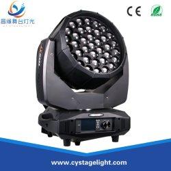 Круг эффект RGBW 4в1 37x15Вт Светодиодные перемещение головки Zoom промойте лампа дальнего света