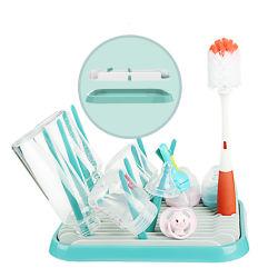 Countertop-Bildschirmanzeige-bewegliches Säuglingsflaschen-trocknendes Halter-trockenes Zahnstangen-Wasser-Absinken-Plastikmilch-Baby-Flaschen-trocknender Zahnstangen-Installationssatz