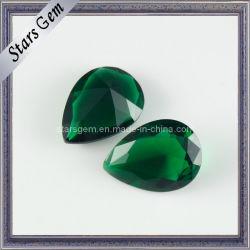 Belle couleur émeraude Poire perles de verre