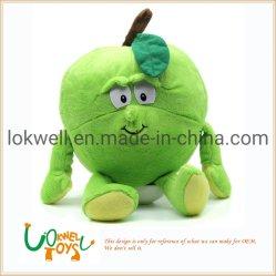Plüsch-Frucht-Grün angefüllter Apple spielt Hauptgaststätte-Dekoration