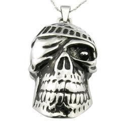Moulage de poignée de commande de la tête du crâne de métal en acier