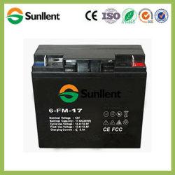 12V17Ah batería AGM libre de mantenimiento para vehículos eléctricos de iluminación de UPS aplicaciones solares