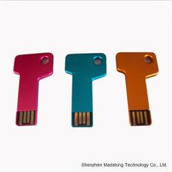 Clé en métal forme un lecteur Flash USB avec la conception spéciale