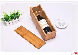 Cassa di legno di bambù del whisky del vino