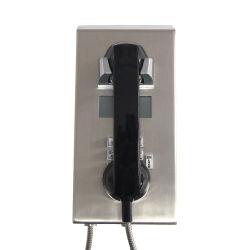 収容者の電話ボリュームLCD表示の標準的で古い固定電話が付いている調節可能な破壊者の刑務所の電話