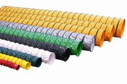 SGSによって証明される黄色いポリエステルによって編まれるPVC上塗を施してあるファブリック炭鉱の空気排気ダクト