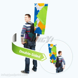 歩くデジタルカスタム屋外の二重側面のプリントバックパックを広告する