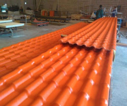 Enduit PVC de haute qualité de l'AAS espagnol de la résine synthétique tuile de toit