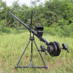 Berufs-Quadrat des DV Kamera-Kran-Kranbalken-3m 6m 8m für Videokamera-Schmierfilmbildung mit 2 Mittellinie motorisiertem Kopf