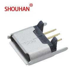 B USB 180 Grad weiblichen USB-Verbinder schreiben spezieller Typ Draht-Rand für Ladung und Datenübertragung