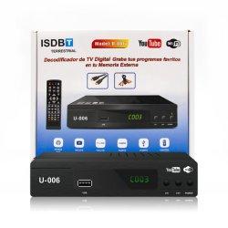 En Amérique du Sud Full HD Youtube WiFi ISDB-T récepteur TV numérique