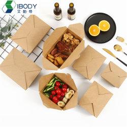 Imprägniern und Packpapier-Mittagessen-Kasten Oilproof Nahrungsmittelgradbrown-Mit PET-Zwischenlage für Nahrungsmittelanlieferung