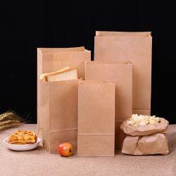 Lebensmittelqualität Biologisch Abbaubar Shopping Drucken Kraft Papierbeutel Custom Gedruckt Verpackungsbeutel Papierbeutel