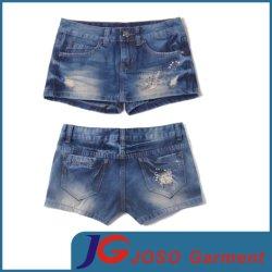 Pocket Scratch fille Pantalon de jeans court (JC6047)