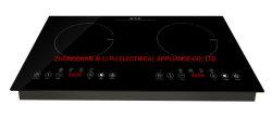 Appareil électrique batterie de cuisine construit en céramique à infrarouge cuisinière 2 brûleurs/Table de cuisson à induction/Cuisinière électrique