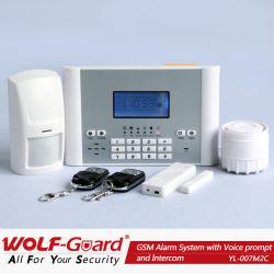 Wireless GSM SMS el sistema de alarma de seguridad para hogares con informar a la función de apagado