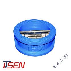 Norma DIN Cast/Ferro Dúctil placa dupla tipo Wafer não retornar a válvula de verificação de segurança da Válvula de Alívio