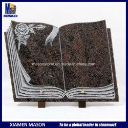 Livre personnalisé de granit en forme de plaques commémoratives
