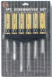 Инструмент с плоским лезвием установите 6ПК набор отверток в блистерной упаковке карты