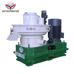China Nueva Venta caliente 1-1.5T/H de la biomasa para la prensa de pellet de madera La madera, paja, aserrín, cascarilla de arroz, el cacahuete cáscara, bambú, la EFB