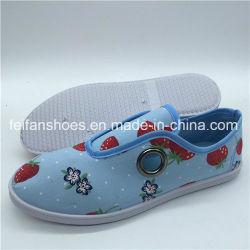 맞춤형 사출 신발 여성용 슬립온 플랫 캐주얼 캔버스 신발(XY0315-5)