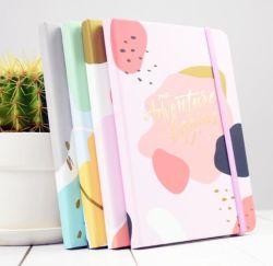 Notebook diário com faixa elástica para a escola e alimentação de Escritório