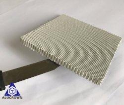 Color blanco 1/15 de pulgada agujero micro núcleo en forma de panal de aluminio