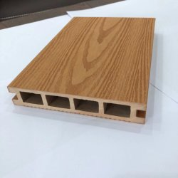 Pavimento laminato esterno di plastica di legno di Decking del composto WPC