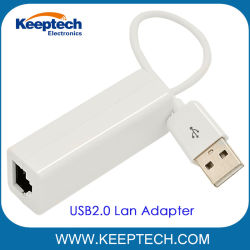 Suporte para USB2.0 para RJ45 10m/100m para o adaptador de rede Ethernet do PC Laptop