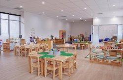 Los niños el mobiliario escolar, los niños de madera maciza de Plaza de la tabla de los niños en edad preescolar y guardería, una mesa de estudio, aula de kindergarten tabla Estudiante