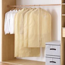Хлопчатобумажной ткани костюм вешалки швейной пакет с ручками для мужская и женщин