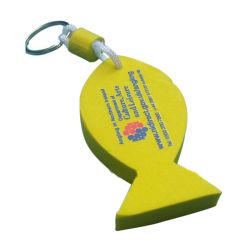 Gele EVA Foam Fish Sleutelhanger voor promotie (ELE-K123)