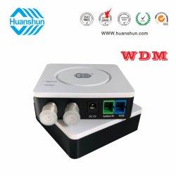 Doble salida Wdm Huanshun FTTH receptor óptico 2X78dBuV