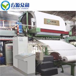 Macchina della carta igienica della Cina dalla polpa del Virgin e dalla polpa della paglia del frumento