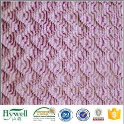 Tessuto lungo dei capelli di PV Velboa di disegno dell'onda spazzolato fiore di Latested