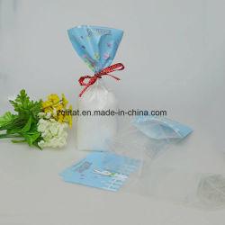 BOPP Cello Navidad Embalaje bolsa de plástico con la parte inferior de la tarjeta de Siliver