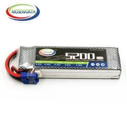 Bateria Recarregável de Alta Capacidade Moseworth Lipo 11,1V 60c RC Hobby