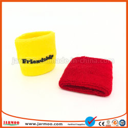 Bon marché de la broderie de promotion du sport Bracelet bandeau de coton
