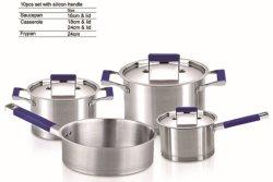 7PCS الجهاز المنزلي آلة الطهي من الفولاذ المقاوم للصدأ طبخ طبخ طبخ طبخ طبخ طبخ طبخ طبخ طبخ طبخ طبخ طبخ في التلميع بالستان عالي الجودة