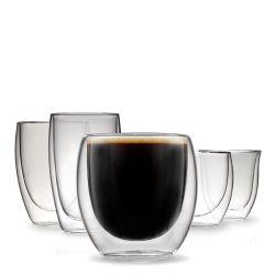 Painéis resistentes ao calor Thermo potável a prova de Bebidas Quentes e Frias de vidro de parede dupla Cappuccino Café Latte xícara de chá