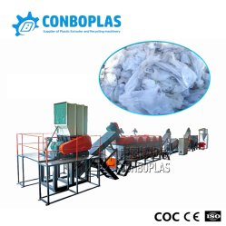 세척하는 폐기물 플라스틱 HDPE PE 농업 필름 조각 장비 재생