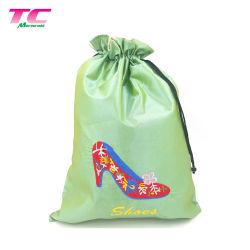 Sacos de sapata de viagens com uma corda de seda acetinado para homens e mulheres os organizadores da sapata de embalagem de Viagem