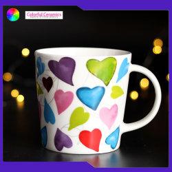 V-tazas taza de café de cerámica de logotipo personalizado elegante tazas tazas de café del desayuno taza tazas de avena