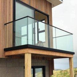 Hochwertiger Landhaus Frameless ausgeglichenes Glas-Geländer-Balustrade-U-Profilstäbeglaszaun-Panel