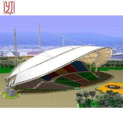 Пвдф высокое натяжение ткани мембранные структуры стадиона тени стальная рама