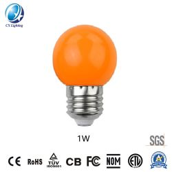 1W Orange Color Festival Christmas Colorful LED Lighting Bulb
