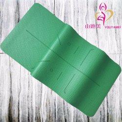 Nuevo estilo de Caucho Natural Non-Toxic PU comienzo con los agujeros más aire respirable a prueba de sudor Estera Del Yoga Mat Yoga