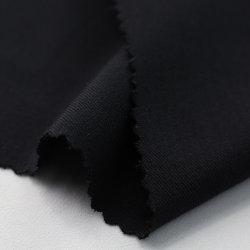 Полиэстер спандекс пресс для брюк черного цвета ткани для одежды брюки